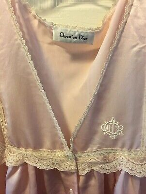 Vintage Christian Dior Full Length Pink Nightgown Estate Sale (Christian Dior Sale)