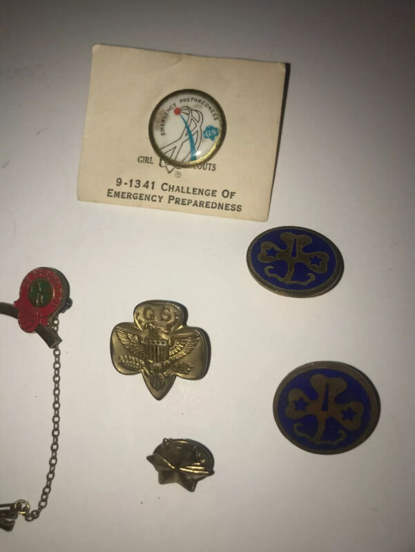 Vintage Lot Girl Scout Pins