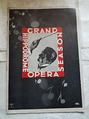 1938 NYC Hippodrome Grand Opera Season Souvenir Program New York City
