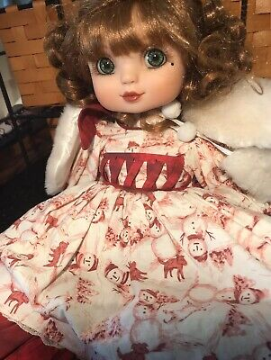 EUC MARIE OSMOND ADORA BELLE CHRISTMAS DOLL ,2003 Snowman Dress