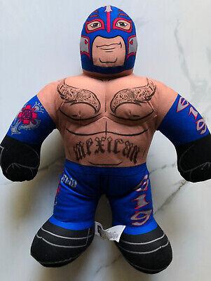 """2012 Rey Mysterio WWE Brawlin' Buddies 16"""" Plush Doll Mexican Blue Mask Mattel"""
