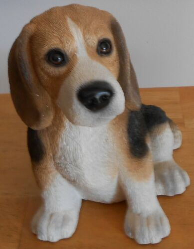 "Beagle Dog Coin Bank with Original Stopper Americast Approx 7"" Tall x 6 1/2"" W"