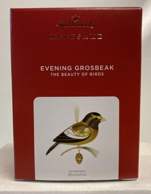 2021 Hallmark Keepsake The Beauty Of Birds Evening Grosbeak Ornament