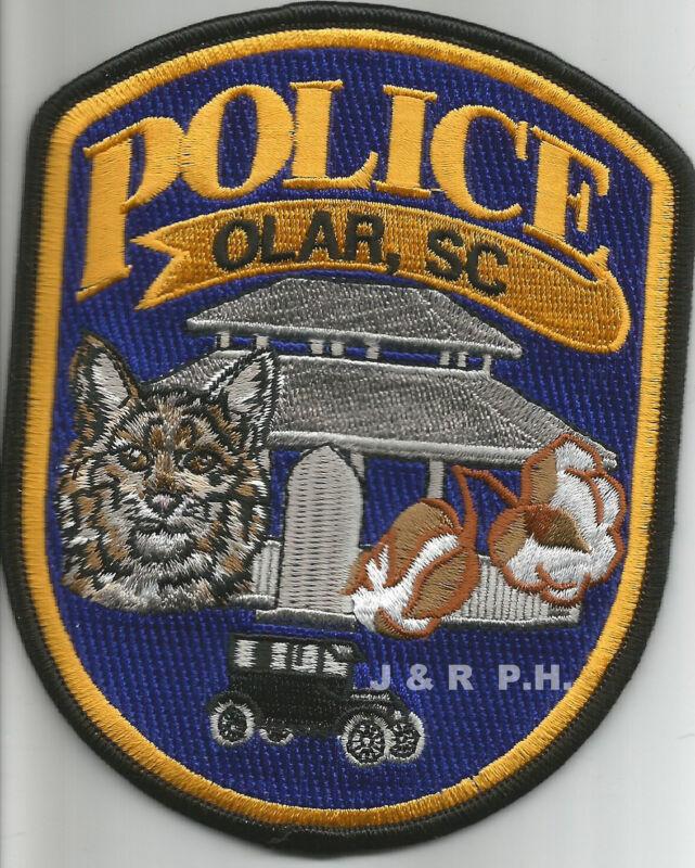 """Olar, South Carolina (4"""" x 5"""" size)  shoulder police patch (fire)"""