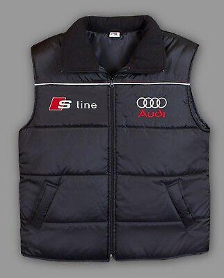 - AUDI S LINE Winter VEST Windproof Waterproof jacket EMBROIDERY EUROPE Made S-6XL