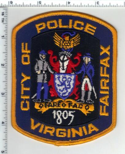 City of Fairfax Police (Virginia) Yellow Border Uniform Take-Off Shoulder Patch