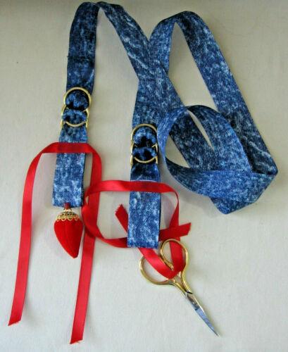 Chatelaine Needlework Needlepoint Cross Stitch Sewing Blue