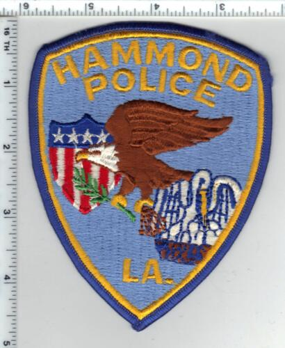 Hammond Police Department (Louisiana) Shoulder Patch from the 1980