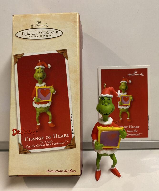 2002 Hallmark Keepsake Dr. Seuss Change Of Heart Ornament With Card