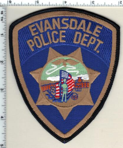 Evansdale Police (Iowa)  Shoulder Patch - new from 1990