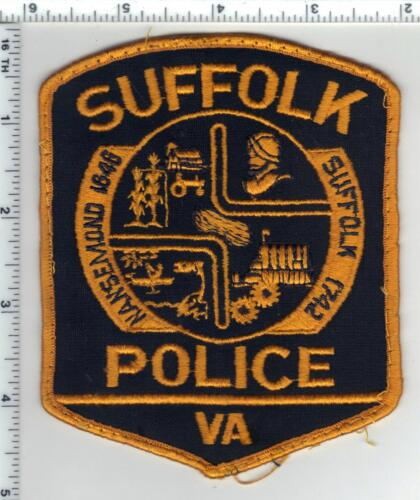 Suffolk Police (Virginia) Uniform Take-Off Shoulder Patch from the Early 1980
