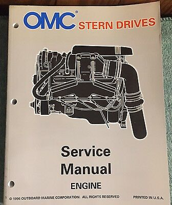 OMC PN 507282 Stern Drives Service Manual LK Engine 1996 Outboard Marine (Outboard Engine Repair Manuals)