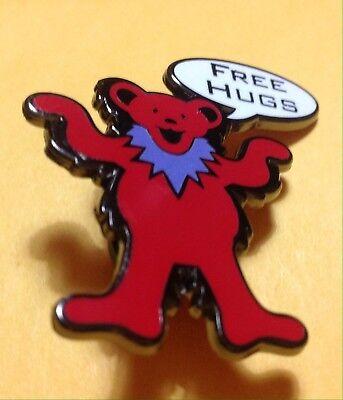Free Bear Hugs (Grateful Dead Bear  Pin  free hugs enamel)