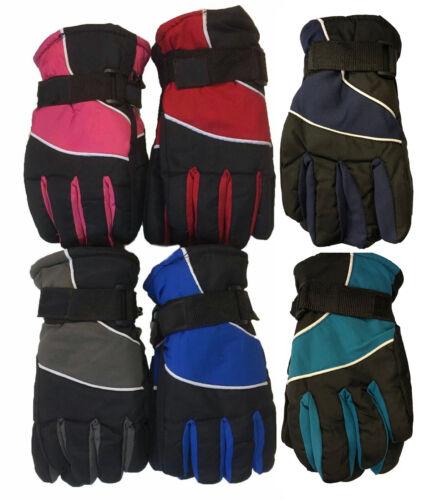 WHOLESALE LOT 12 Pairs Outdoor Ski Thermal Insulation waterproof Kid Gloves