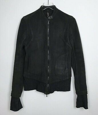 Isaac Sellam Experience Lambskin Leather Jacket Women's FR 40 US 8 Medium Black