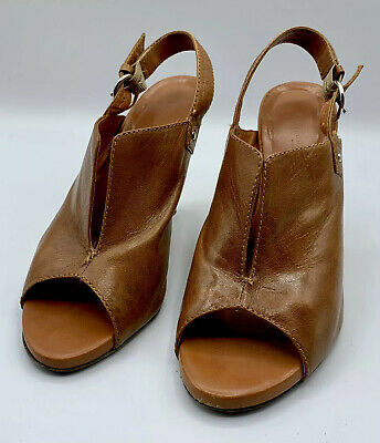 Anthropologie Latitude Femme Leather Wedges Heels Size EUR 38 1/2 US 8 EUC