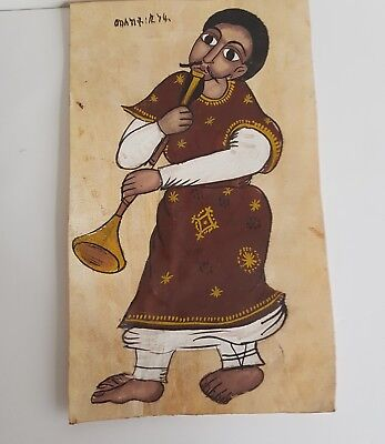 Antique Ethiopian on painting  on  Vellum