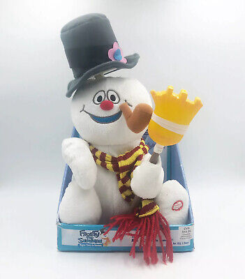 """Gemmy Animated Singing Wigglin' Frosty the Snowman 12"""" Plush New Working"""