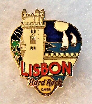 HARD ROCK CAFE LISBON GREETINGS FROM GUITAR PICK SERIES PIN # 97520