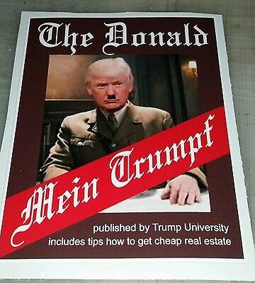 "President Donald Trump Sticker  MEIN TRUMPF novelty parody 5""x3"""