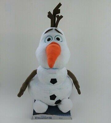 Disney Frozen 2 Plush Permafrost Snow Olaf 12 Inch Tall Stuffed Animal New Clean