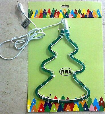 Luci addobbi di Natale in tubo luminoso forma pino illuminazione natalizia