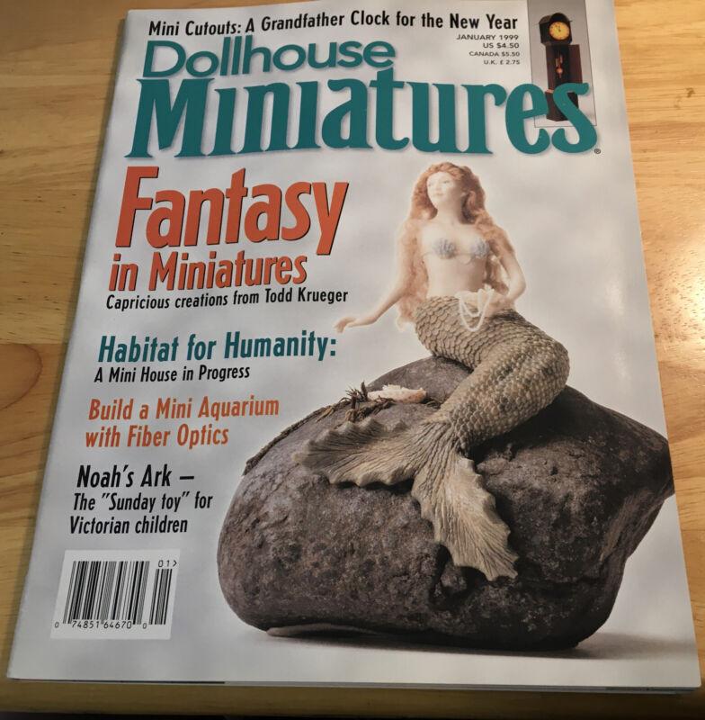 Dollhouse Miniatures Magazine January 1999 Mermaid