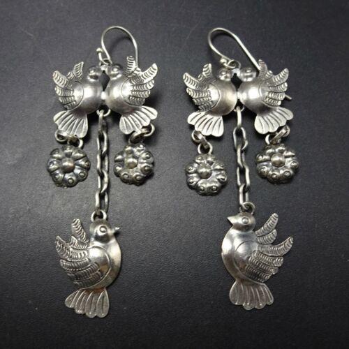 Elegant FEDERICO JIMENEZ SterlingSilver Doves of Love EARRINGS Oaxaca Collection