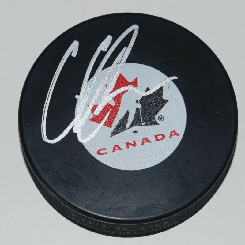 CODY GLASS signed 2017 NHL DRAFT puck *LAS VEGAS GOLDEN KNIGHTS* CANADA W/COA #1
