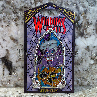 Disney Parks Disneyland Windows of Evil Ursula Pin The Little Mermaid Villain