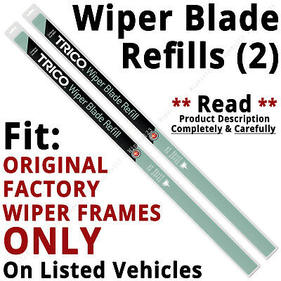 Pair of Wiper Blade Refills FIT ORIGINAL Factory Wiper Frames ONLY - 45-210 x2