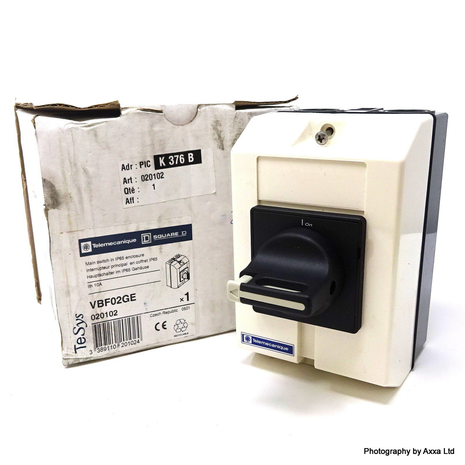 Telemecanique VCF1GE 25A 3Pole 11kw Emergency Stop//Main Switch In IP65 Enclosure