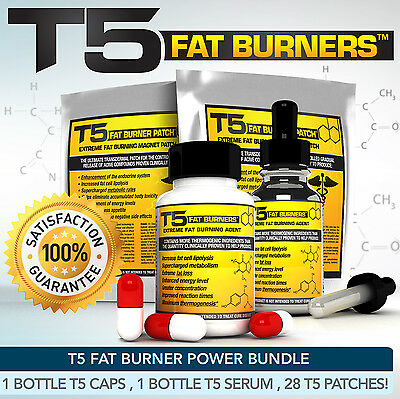 T5 FAT BURNERS POWER BUNDLE -STRONGEST LEGAL SLIMMING / DIET PILLS +SERUM +PATCH for sale  Shipping to Ireland