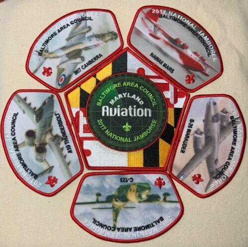 2017 BALTIMORE AREA COUNCIL Boy Scout National Jamboree JSP PATCH SET Aviation