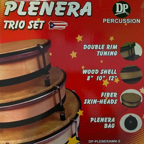 Plenera Set, Set Of 3 Pleneras with Carry Bag-DP (Panderos de Plena)