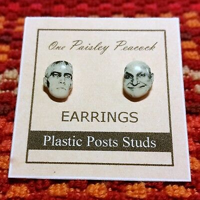 Lurch and Uncle Fester Earrings-The Addams Family- - Uncle Fester The Addams Family