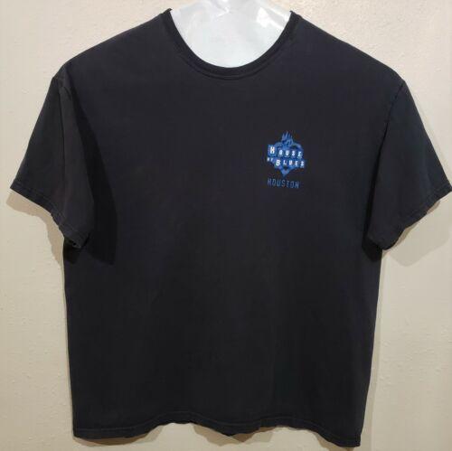 Vintage House of Blues t-shirt mens XL tee Houston black blue