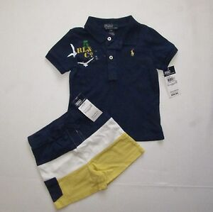NWT Ralph Lauren polo Baby boys 3-piece outfits, 24M, 18M, 12M, 9M ,100%Genuine