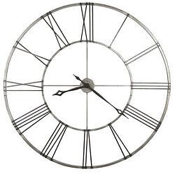 625-472 -STOCKTON- 49  NICKEL FINISHED HOWARD MILLER WALL CLOCK   625472