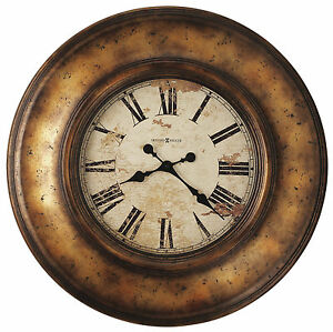 HOWARD MILLER -  LARGE GALLERY WALL CLOCK  RUSTIC 625-540