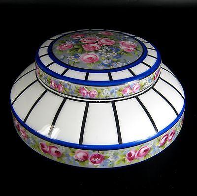 Jugendstil Porzellan Dose Blumendekor ca. 1910 Art Nouveau Porcelain Box XXX