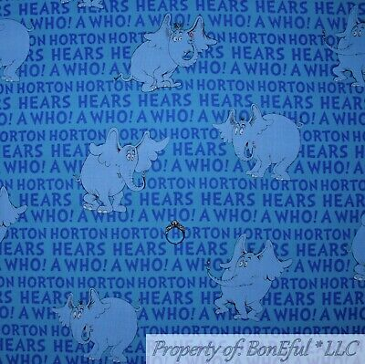 Horton Hears A Who Boy (BonEful FABRIC Cotton Quilt Horton Hears a Who Dr Seuss Stripe Elephant NR)