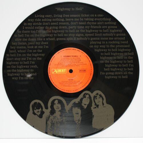 "AC/DC 12 inch Black vinyl LP laser etched wall art. ""M4"""