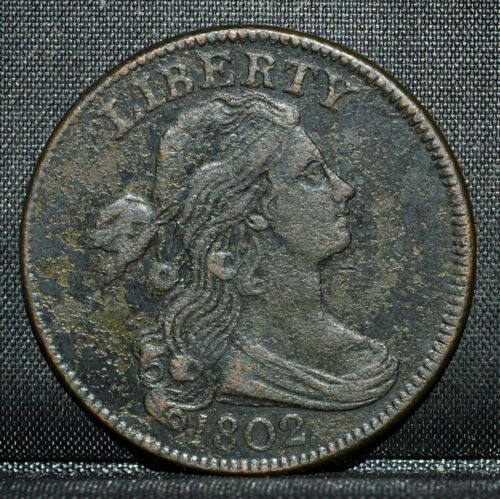 1802 LARGE CENT ✪ XF EXTRA FINE DETAILS ✪ 1C DRAPED BUST COIN L@@K NOW ◢TRUSTED◣