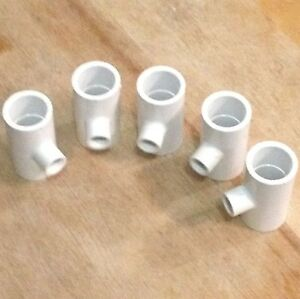 5-White-Heavy-Duty-PVC-Fitting-Poultry-Chicken-Drinker-Cups-Pipe-Bracket-Saddle