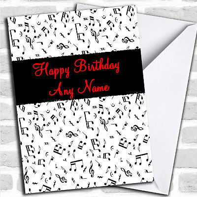 Music Notes Personalized Birthday Card