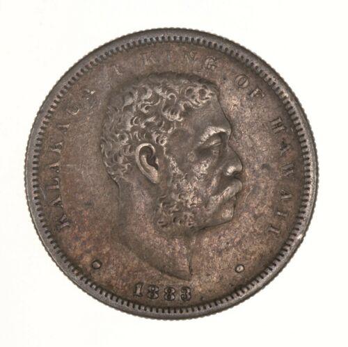 Raw 1883 Hawaii 50C Uncertified Ungraded Circulated Hawaiian Silver Half Dollar
