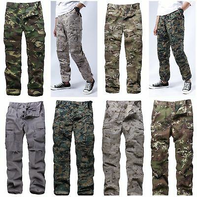Mens Military Army BDU Pants Casual Camo Pants for work outdoor game hunting ()