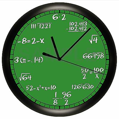 MATH EQUATIONS WALL CLOCK PERSONALIZED GIFT DECOR TEACHER PROFESSOR NUMBERS  - Math Decorations