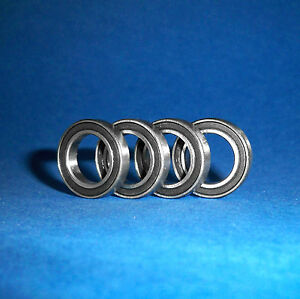 4 Kugellager R12 2RS / Zoll / Inch / 19,05 x 41,275 x 11,1125 mm